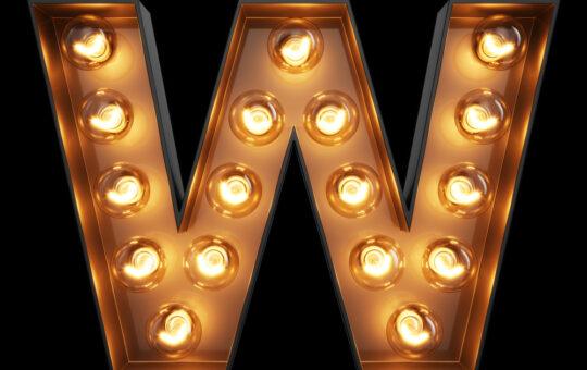 Reclame letters verlicht